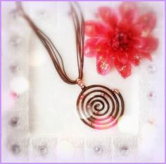 Sparkle Swirl Charm Necklace by SunKissedCollections on Etsy, $6.99