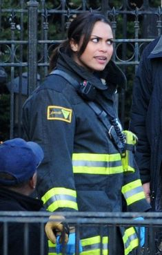 "Monica Raymund - ""Chicago Fire"" Cast on Set"