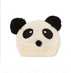 Panda Pom Pom Knitted Baby Hat | christinepurr - Children's on ArtFire