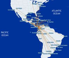 Copa Airlines Route Map