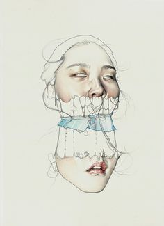 I need a guide: haejung lee #illustration #drawing #portrait
