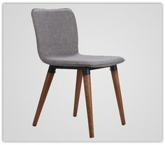 Coffee Chair Ash Solid Wood Legs Fabric Cushion Seat