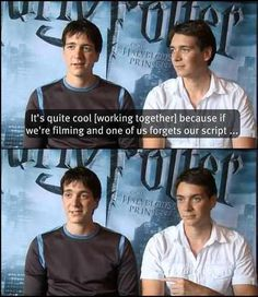 Harry Potter Quotes Fred And George Funny Weasley Twins Ideas For 2020 Harry Potter Interviews, Harry Potter Puns, Harry Potter Cast, Harry Potter Universal, Harry Potter World, Fandoms, Oliver Phelps, Phelps Twins, Jokes