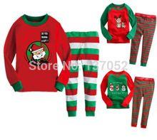 Free shipping new Christmas children's clothing sets baby Boys Girls kids Pajamas Santa Reindeer Snowman sleepwear 2pc set(China (Mainland))
