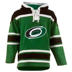 Old Time Hockey Carolina Hurricanes St. Patrick's Day McNary Lace Hoodie - Kelly Green