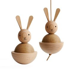 This classic Scandinavian style rabbit from OyOy is the perfect wooden toy. Can also be hung as a decoration in your child's bedroom. Wood Turning Lathe, Wood Turning Projects, Wood Lathe, Rabbit Toys, Bunny Toys, Rabbit Baby, Bunnies, Learn Woodworking, Woodworking Projects