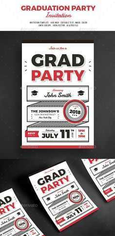 Chalkboard Style Graduation Invitation  Download Template And Ais