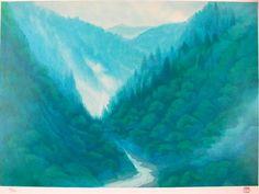 東山魁夷「雲上がる峡」