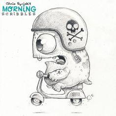 Road Warrior.  #morningscribbles #vespa