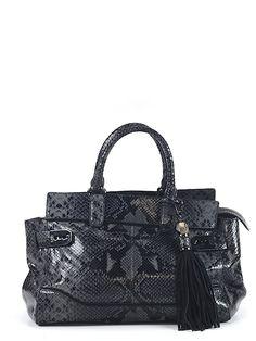 Rafe New York Leather Satchel #preowned #luxeforless #snakeskin @thredup