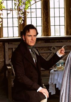In chapter 13 Jane becomes acquainted with Mr. Rochester and does not feel completely comfortable around him. She also learns of Mr.Rochester's complicated history with Thornfield. It was originally his brothers and Mr. Rochester only received it due to his brother's death.