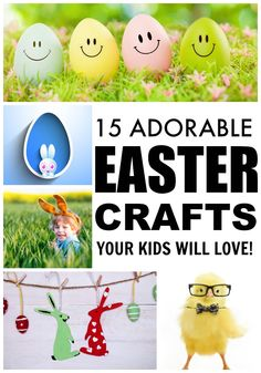 If you're looking for new and exciting kids crafts to keep your little ones occupied for more than 5 minutes on cold, snowy afternoons, check out these ADORABLE Easter crafts for kids! They are great boredom busters and make great keepsakes, too!