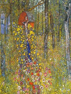 GUSTAV KLIMT FARMERS GARDEN WITH CRUCIFIX OLD ART PAINTING AFFICHE 1096OM