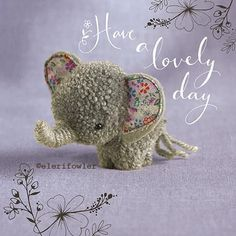 """Elephant """"Tiddly pom pom"""" by Eleri Fowler for Paper Rose greeting card Crafts To Make And Sell, Diy And Crafts, Crafts For Kids, Arts And Crafts, Preschool Crafts, Pom Pom Crafts, Yarn Crafts, Fabric Crafts, Cute Crafts"""