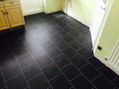 Johnny Emperor Flooring, Colonia Imperial Black Marble Offset Brick Design