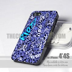 Paramore Riot Quote Blue Romantic iPhone 4/4s Case