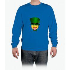 Tongue emoji leprechaun Long Sleeve T-Shirt