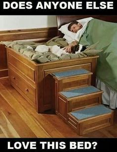 Soo sweet. Great for dogs who need to sleep in the bed with you.