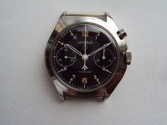 Lemania Fleet Air Arm asymmetric one button chronograph