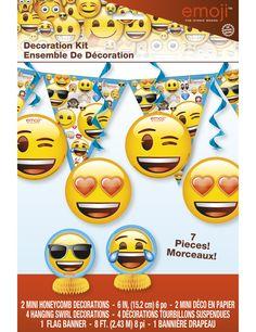 Kit de decoración Emoji™: Este lote incluye 7 decoraciones con licencia oficialEmoji™.La guirnalda mide alrededor de 2,4…