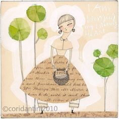 woman and basket print  friendship   by corid,