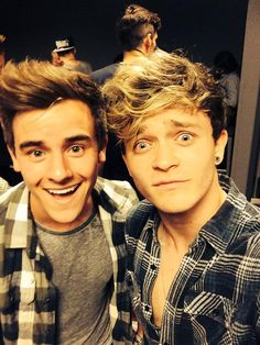 "Connor Franta and Connor Ball. ""YO I MET ANOTHER DUDE WITH THE COOLEST NAME EVER"" -Connor Ball"