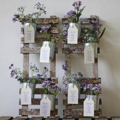 Flower pot seating plan