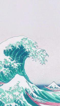 List of Beautiful Anime Wallpaper IPhone Pattern Print Wave Art Japanese Green Illust Classic Tumblr Wallpaper, Old Wallpaper, Japanese Wallpaper Iphone, Painting Wallpaper, Wallpaper Ideas, Unique Wallpaper, Wallpaper Quotes, Classic Wallpaper, Photo Wallpaper