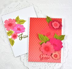 Cute cards using Papertreyink stamps, dies and ink. By Dawn McVey