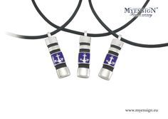 MyEnsign Yachting Jewels - Original Collection - blue enameled Silver Anchors!