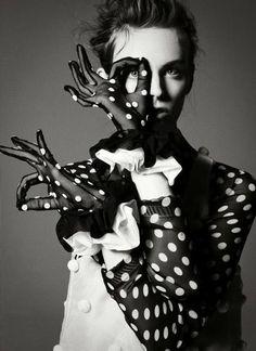 Polka dot fashion...