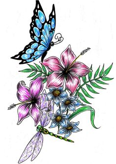 Image gallery of flower designs 16 how to draw flower designs step by step tattoos Dragonfly Drawing, Dragonfly Tattoo Design, Butterfly Drawing, Butterfly Tattoo Designs, Butterfly Flowers, Flower Designs, Flower Drawings, Butterfly Outline, Butterflies