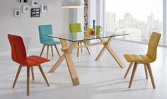 Mesa de comedor fija de cristal Dalí