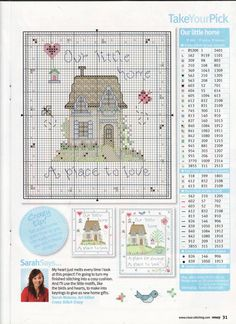 Our Little Home - Cross Stitch Crazy 135