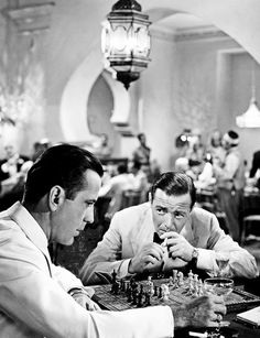 Humphrey Bogart and Peter Lorre in Casablanca (1942)
