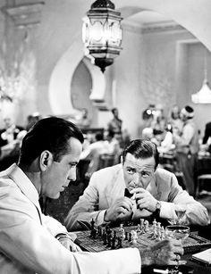Humphrey Bogart and Peter Lorre in Casablanca (1942)