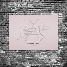 Berlin City C8 - Acrylic Glass Art Subway Maps (U-Bahn-Karte, Acrylglas, Plexiglas)