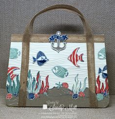 Seaside Shore Beach purse for the Creative Circle Design Team - created by Sandy Mott