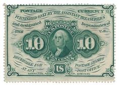 Fr. 1240 1st Issue 10 Cent Fractional A total of 1 fractional is offered here. All the fractionals are from a single collection assembled in the 1960s. All are conservatively graded.