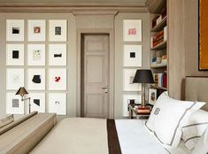 Rooms with Traditional Art vs. Edgy Contemporary Art - 1stDibs Introspective Contemporary Bedroom, Contemporary Art, Interior Design Career, Red Walls, California Homes, Wainscoting, Luxury Apartments, Elle Decor, Traditional Art