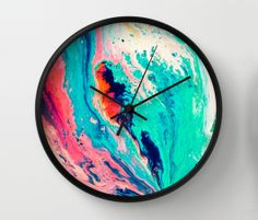 Society 6 clock by Kimsey Price, on sightunseen.com