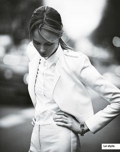 white | suit