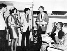 South African Airways circa 1960 VASP of Brazil Onboard service - the old-fashioned way! One of Canada's iconic airlines of yes. Airlines Hiring, Airline Uniforms, Old Cabins, Airline Travel, Cabin Crew, Cool Fabric, Flight Attendant, South Africa, The Past