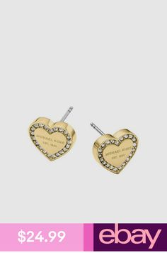 47da1f29e65b Heart-shaped diamond Crystal Stud Earrings Boucle - Rose Gold ...