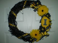 Iowa Hawkeyes Wreath...Feeling creative I made this over the Mother's Day weekend!