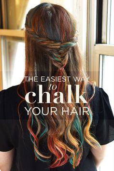 How to chalk your hair /hairstyles older women/haircare older women/