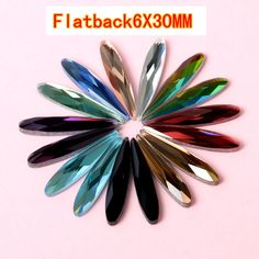 competitive products 6X30MM flatback Crystal glass Water drop shape rhinestone DIY Apparel accessories 50PCS/pack