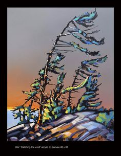 """Title: """"Catching the wind"""" 40 x 30 acrylic on canvas  www.werbeland.ca"""