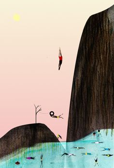 "Image of Cliff Dive: 4"" x 6"" Print by Sarah Jacoby"
