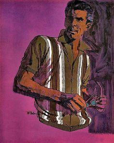 Bob Peak for Puritan Ban-Lon Knits, 1965 American Illustration, Illustration Styles, Illustrations, Bob Peak, Jack Vettriano, Art Of Manliness, Men Art, Norman Rockwell, Hard Boiled
